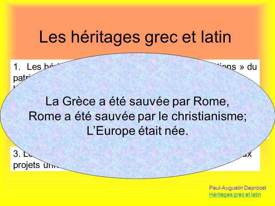 Les héritages grec et latin