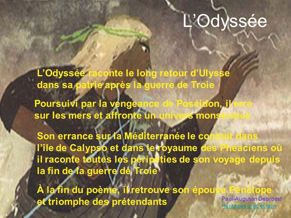 L'Odyssée L'Odyssée raconte le long retour d'Ulysse