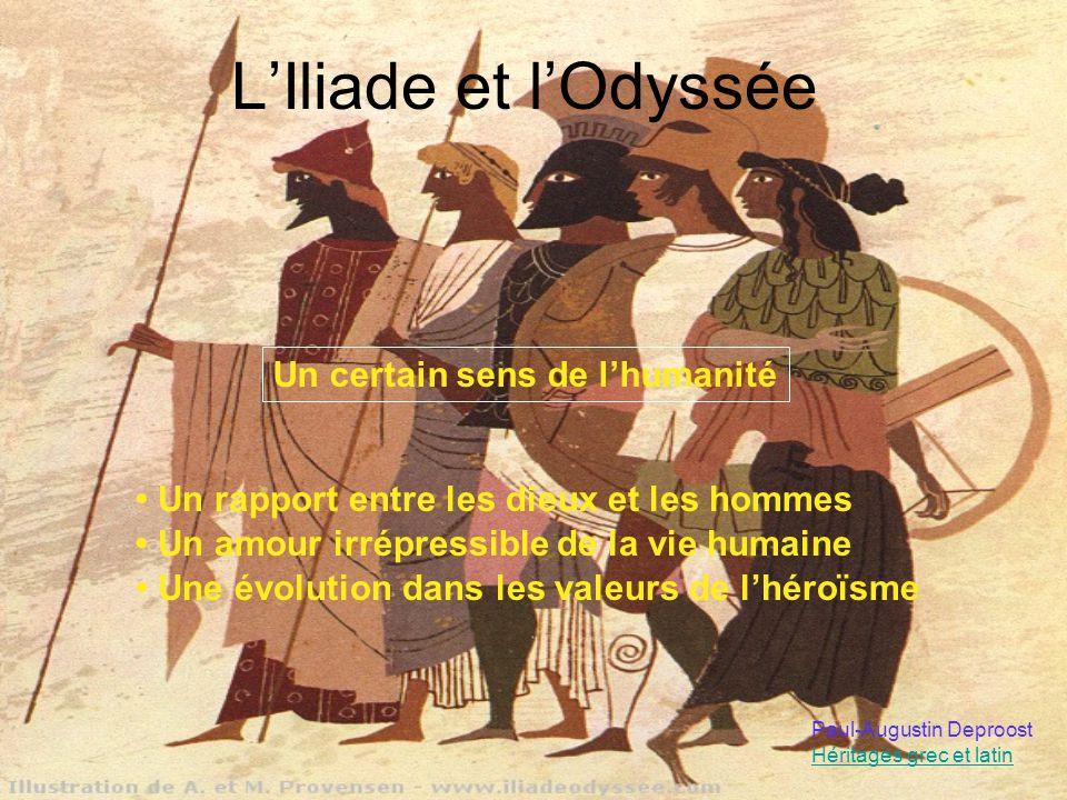 L'Iliade et l'Odyssée Un certain sens de l'humanité