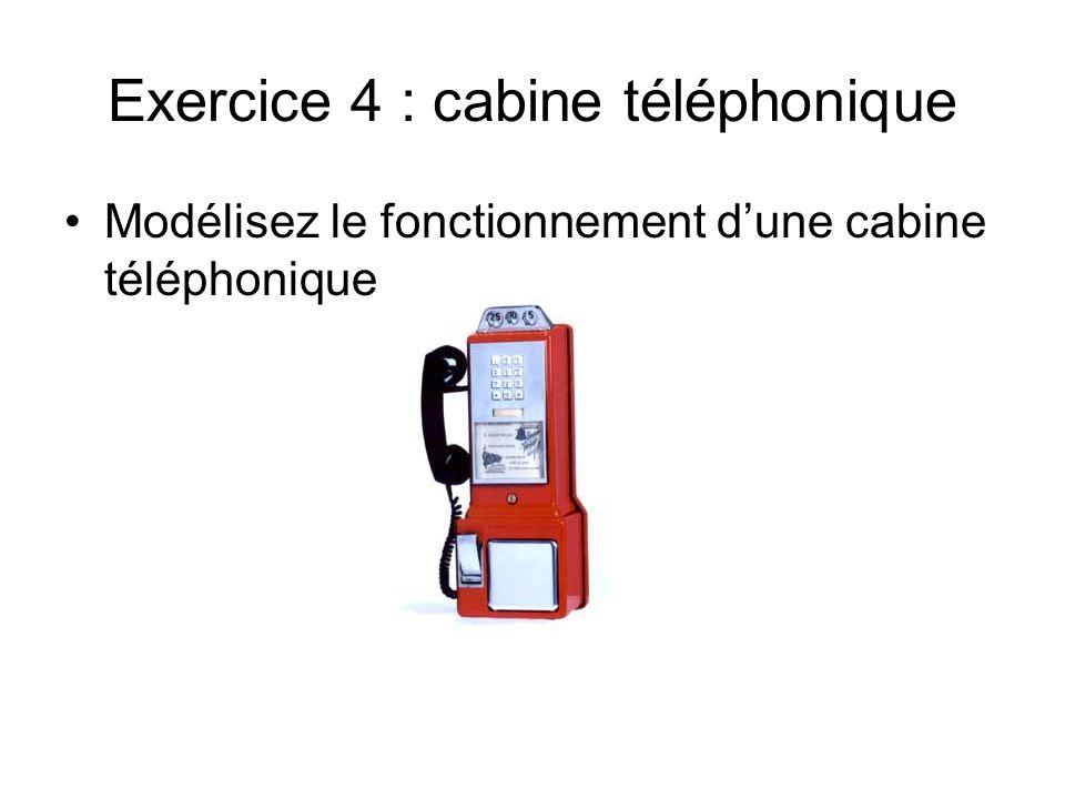 Exercice 4 : cabine téléphonique
