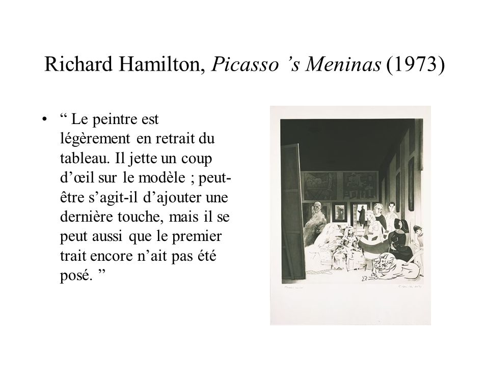 Richard Hamilton, Picasso 's Meninas (1973)