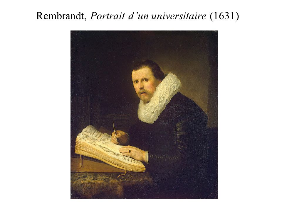 Rembrandt, Portrait d'un universitaire (1631)