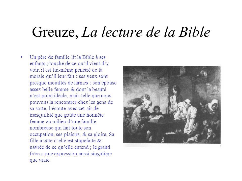 Greuze, La lecture de la Bible