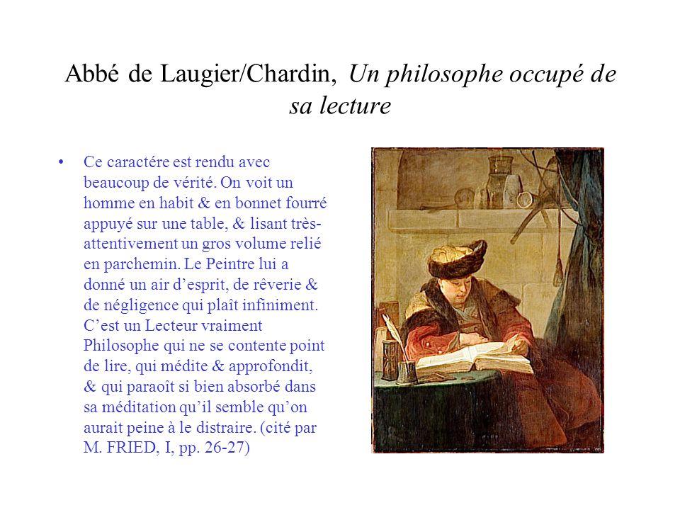 Abbé de Laugier/Chardin, Un philosophe occupé de sa lecture
