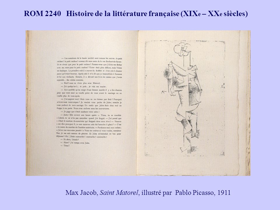 Max Jacob, Saint Matorel, illustré par Pablo Picasso, 1911