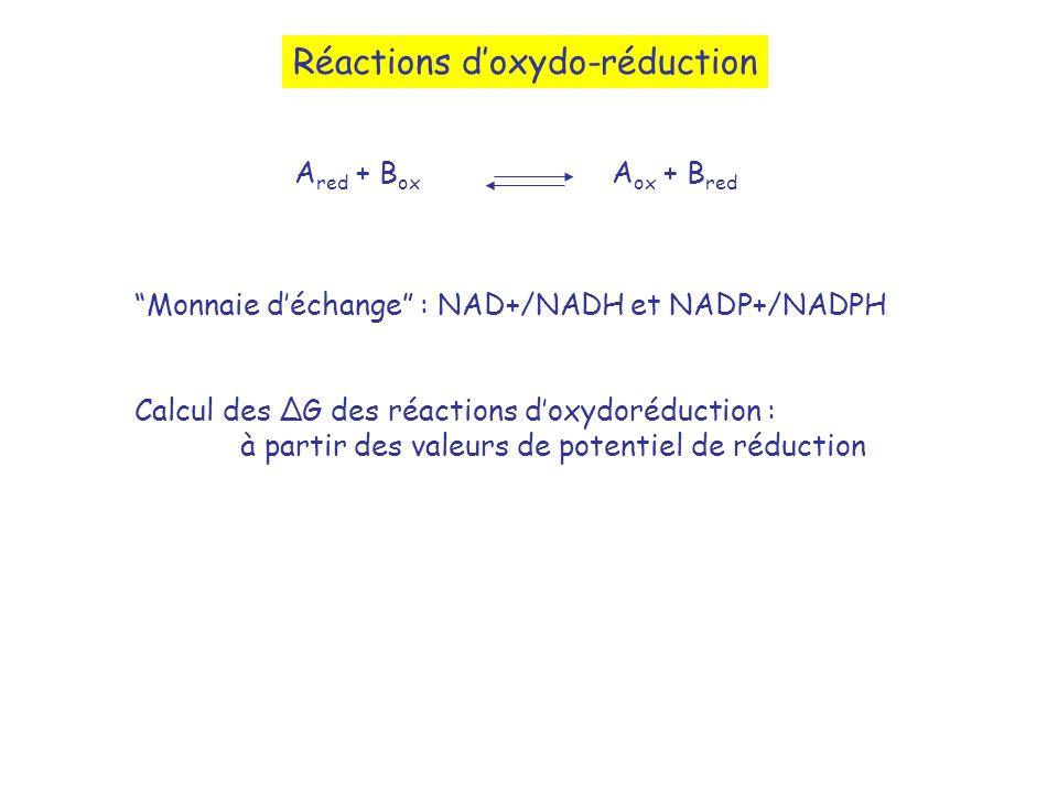 Réactions d'oxydo-réduction