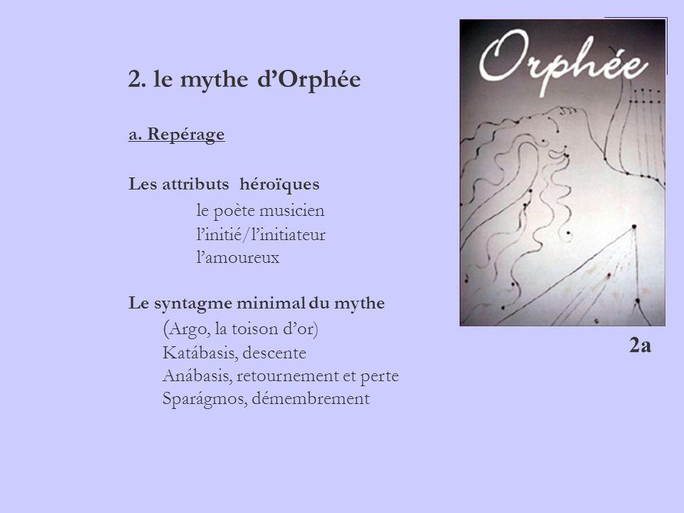 2. le mythe d'Orphée le poète musicien (Argo, la toison d'or) 2a