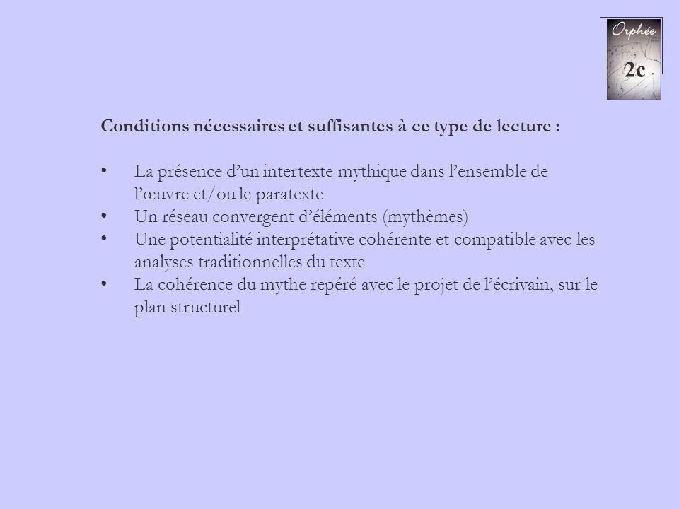 2c Conditions nécessaires et suffisantes à ce type de lecture :