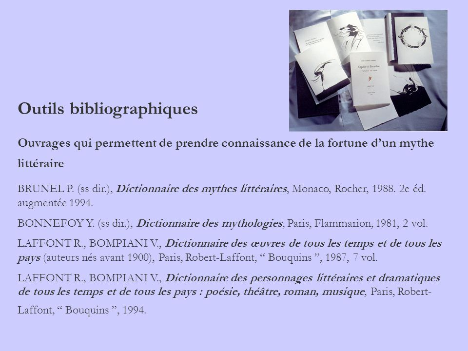 Outils bibliographiques
