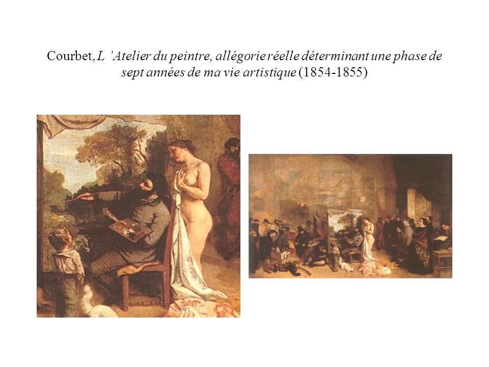 Courbet, L 'Atelier du peintre, allégorie réelle déterminant une phase de sept années de ma vie artistique (1854-1855)