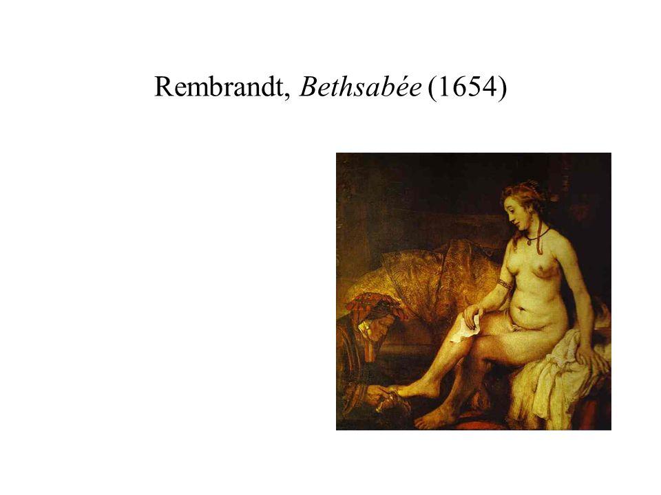 Rembrandt, Bethsabée (1654)