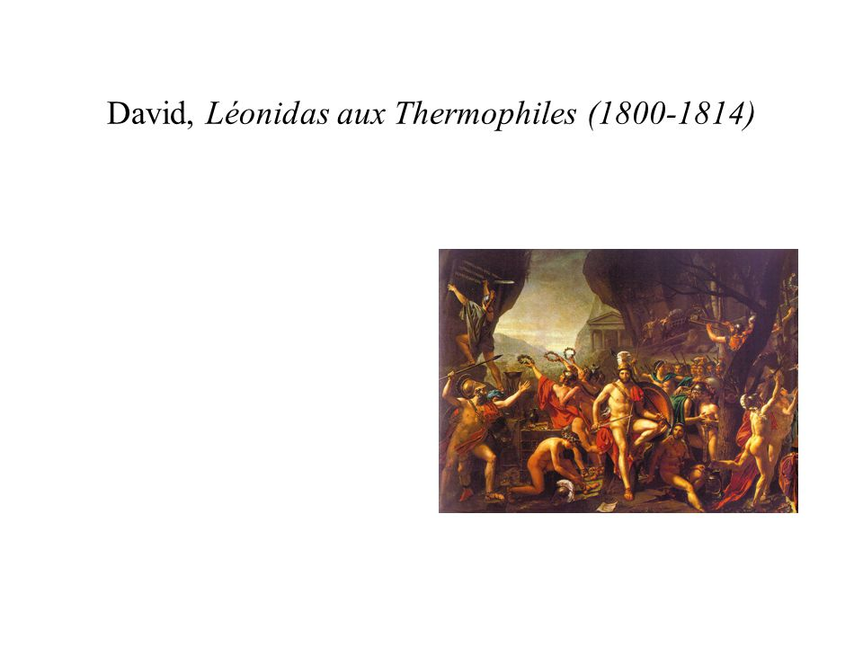 David, Léonidas aux Thermophiles (1800-1814)