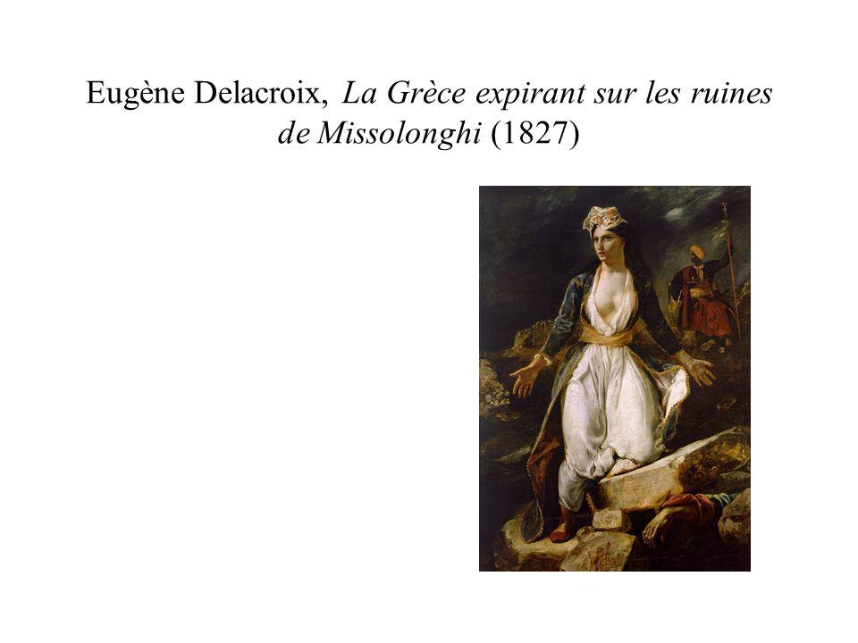 Eugène Delacroix, La Grèce expirant sur les ruines de Missolonghi (1827)