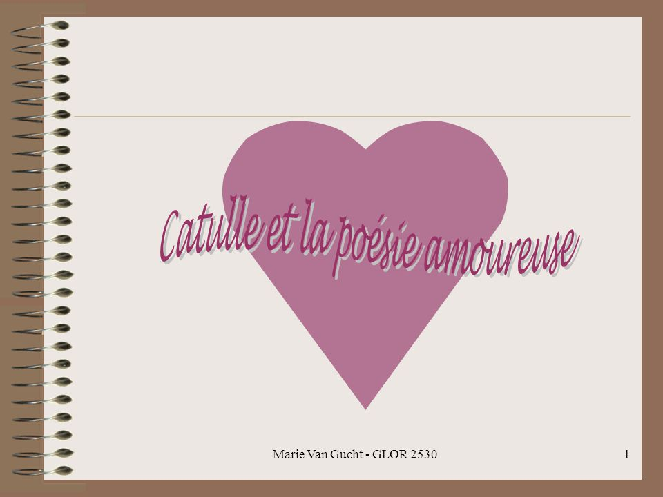 Catulle et la poésie amoureuse