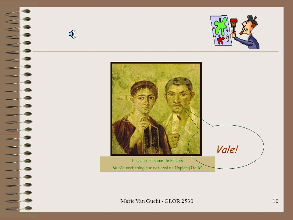 Vale! Marie Van Gucht - GLOR 2530 Fresque romaine de Pompéi