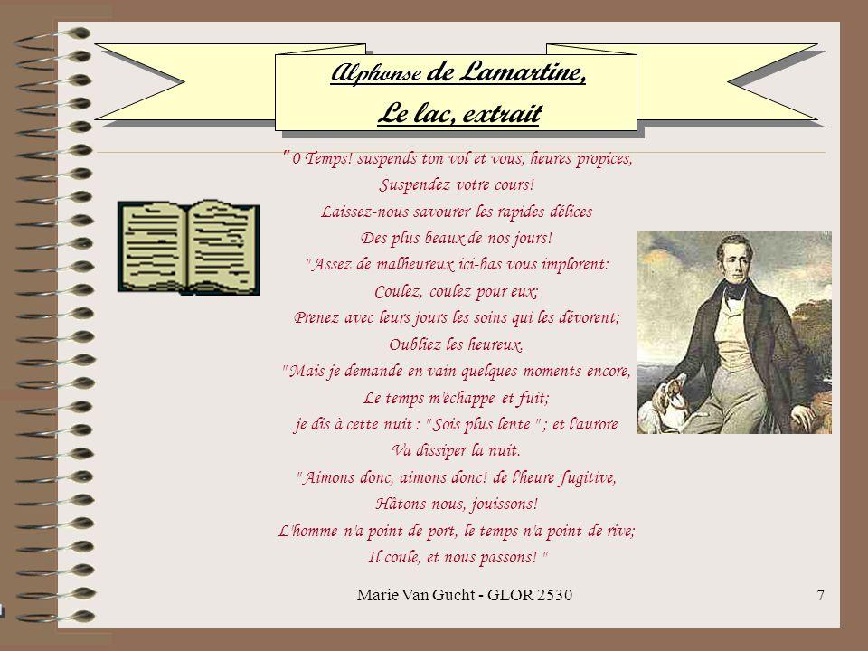Le lac, extrait Alphonse de Lamartine,