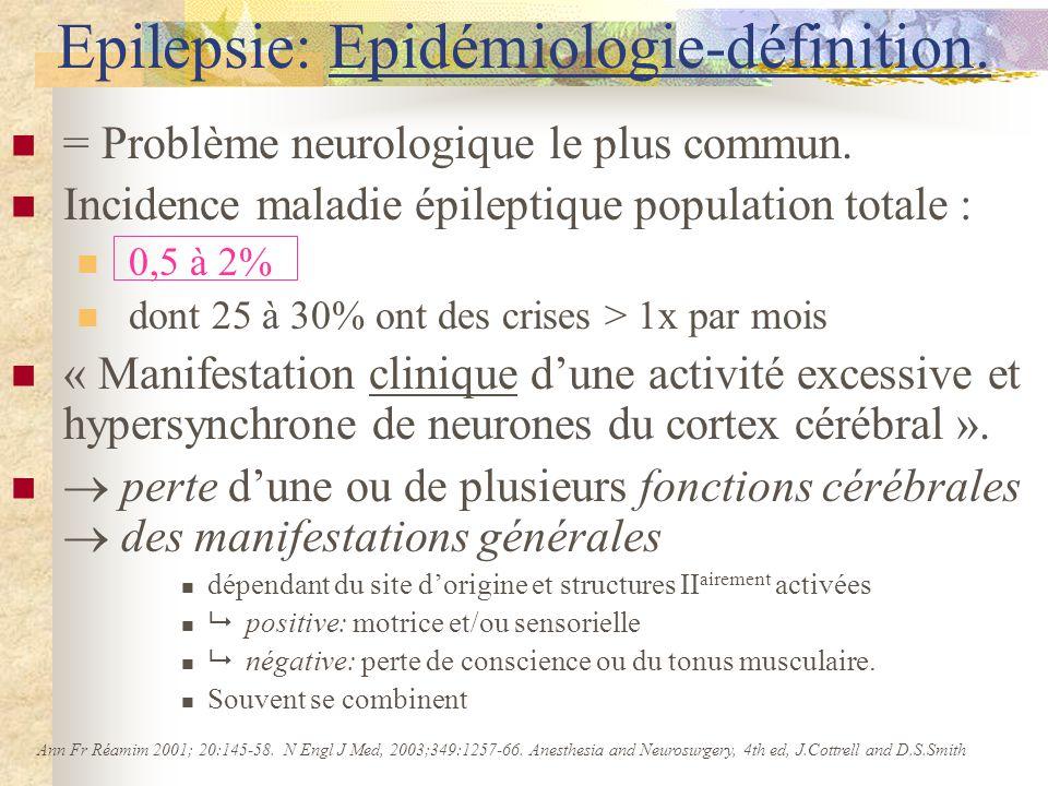 Epilepsie: Epidémiologie-définition.