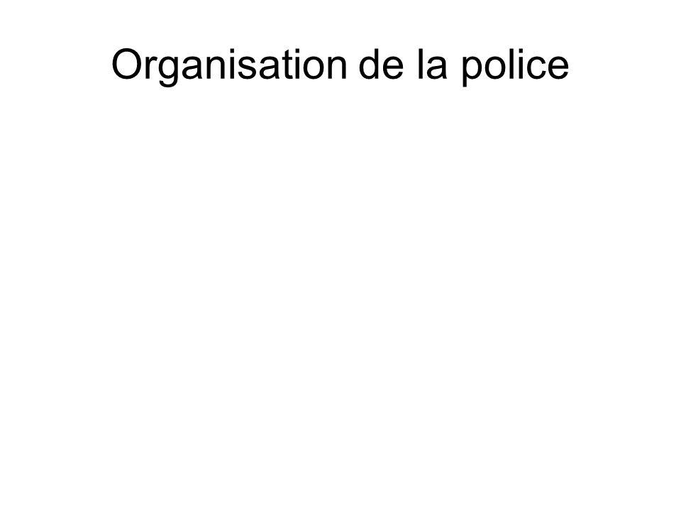 Organisation de la police