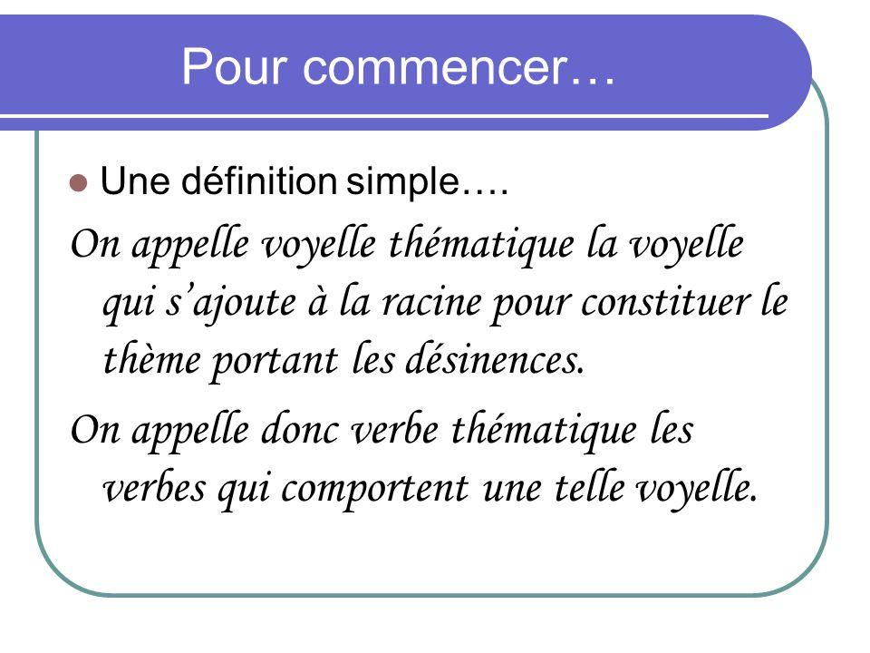 Pour commencer… Une définition simple….