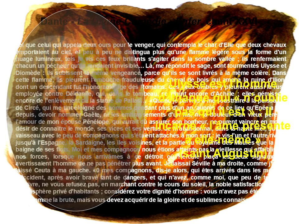 01/04/2017 Dante - La Divine Comédie - Enfer, chant XXVI.