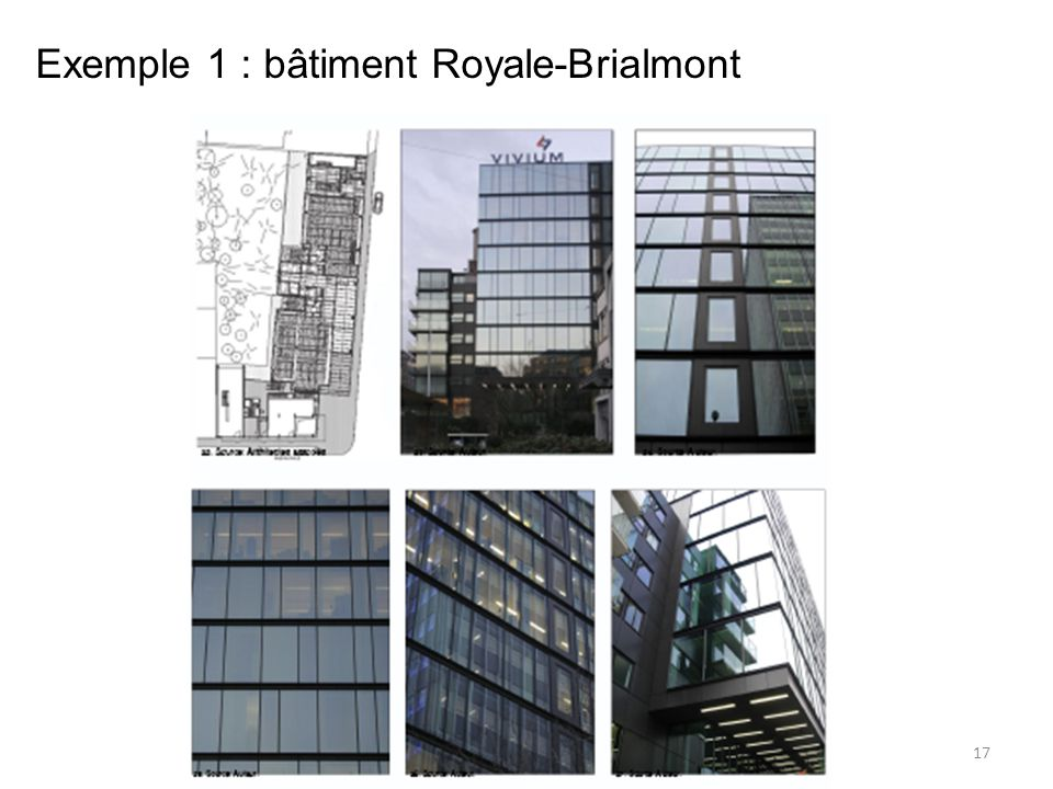 Exemple 1 : bâtiment Royale-Brialmont