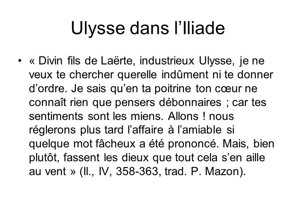 Ulysse dans l'Iliade