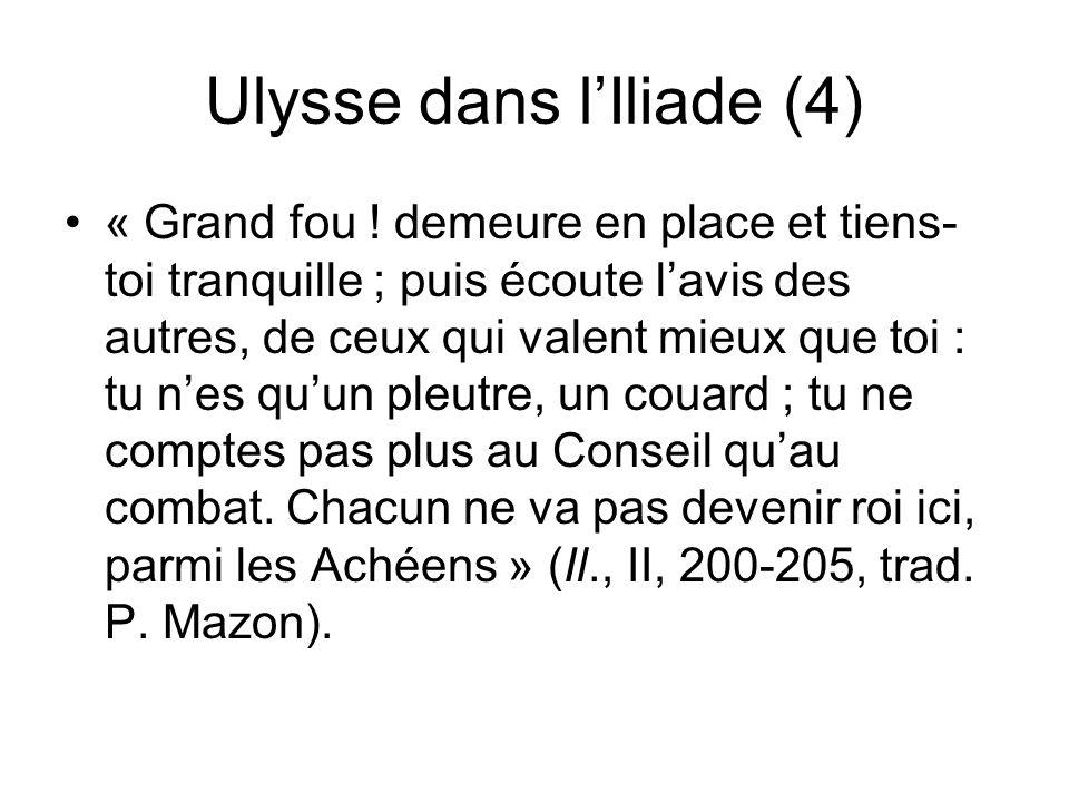 Ulysse dans l'Iliade (4)