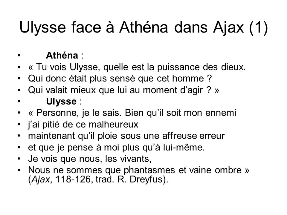 Ulysse face à Athéna dans Ajax (1)