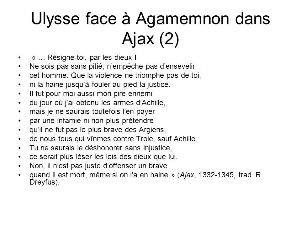 Ulysse face à Agamemnon dans Ajax (2)