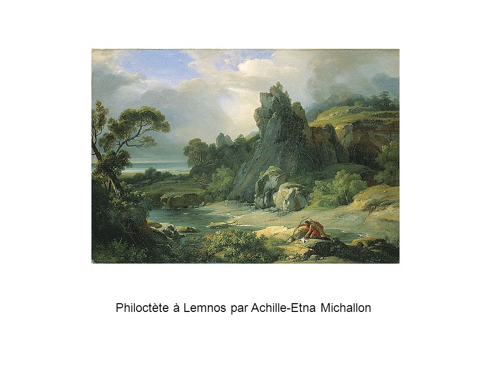 Philoctète à Lemnos par Achille-Etna Michallon