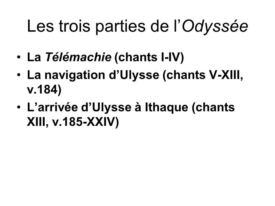 Les trois parties de l'Odyssée