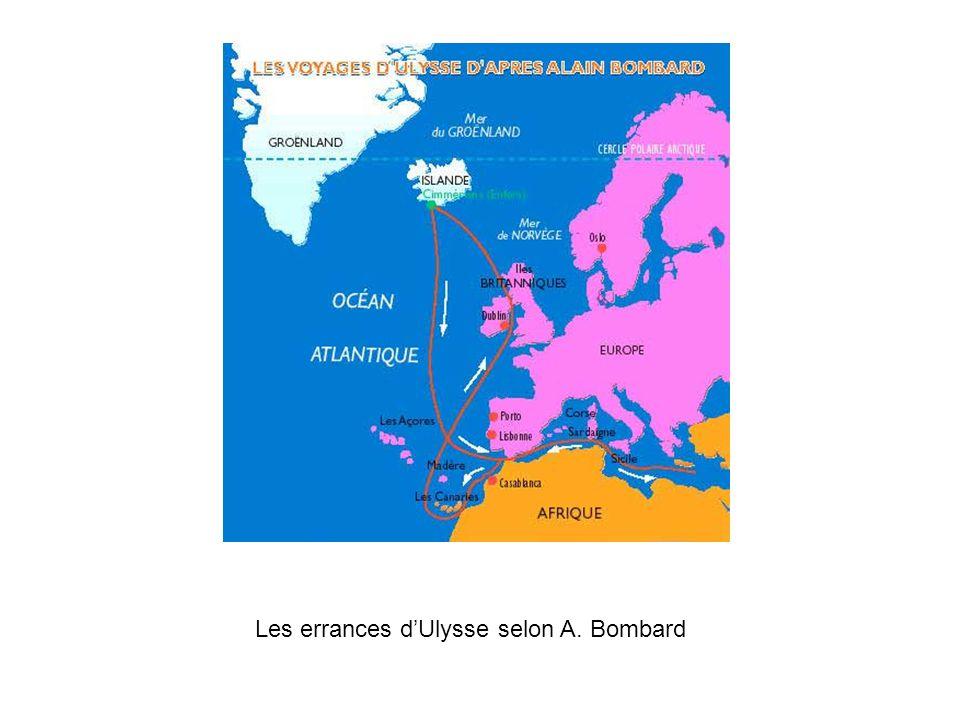 Les errances d'Ulysse selon A. Bombard