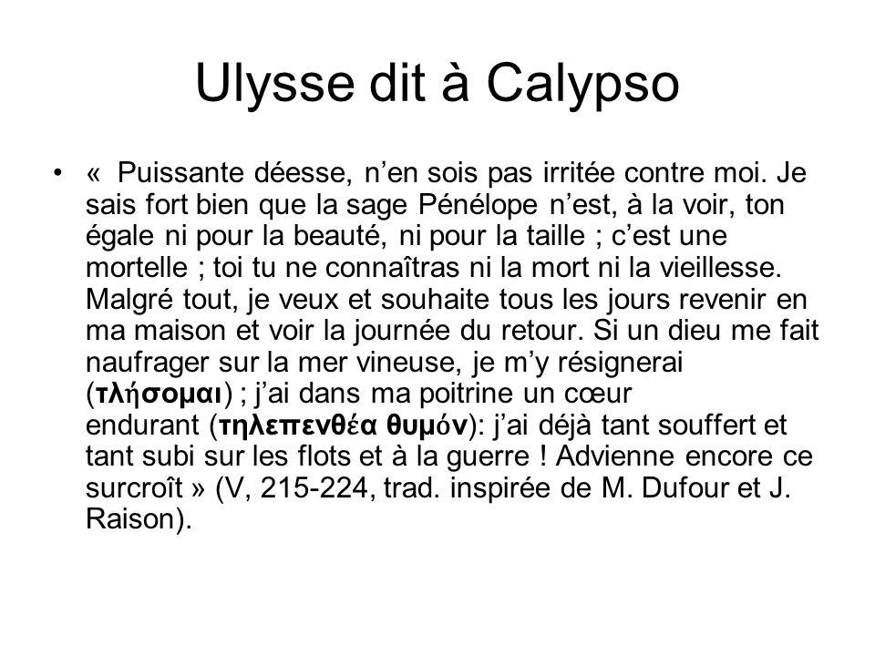 Ulysse dit à Calypso
