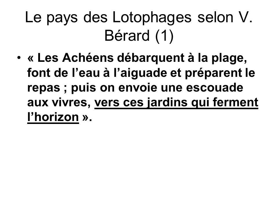 Le pays des Lotophages selon V. Bérard (1)