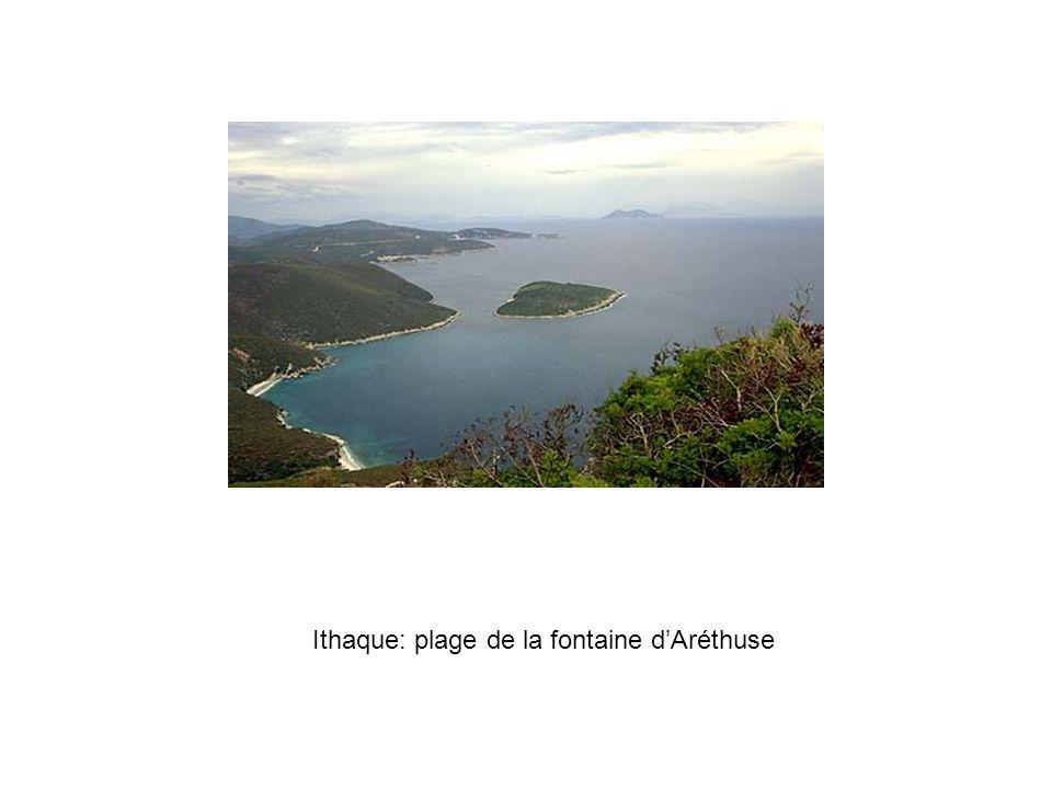 Ithaque: plage de la fontaine d'Aréthuse