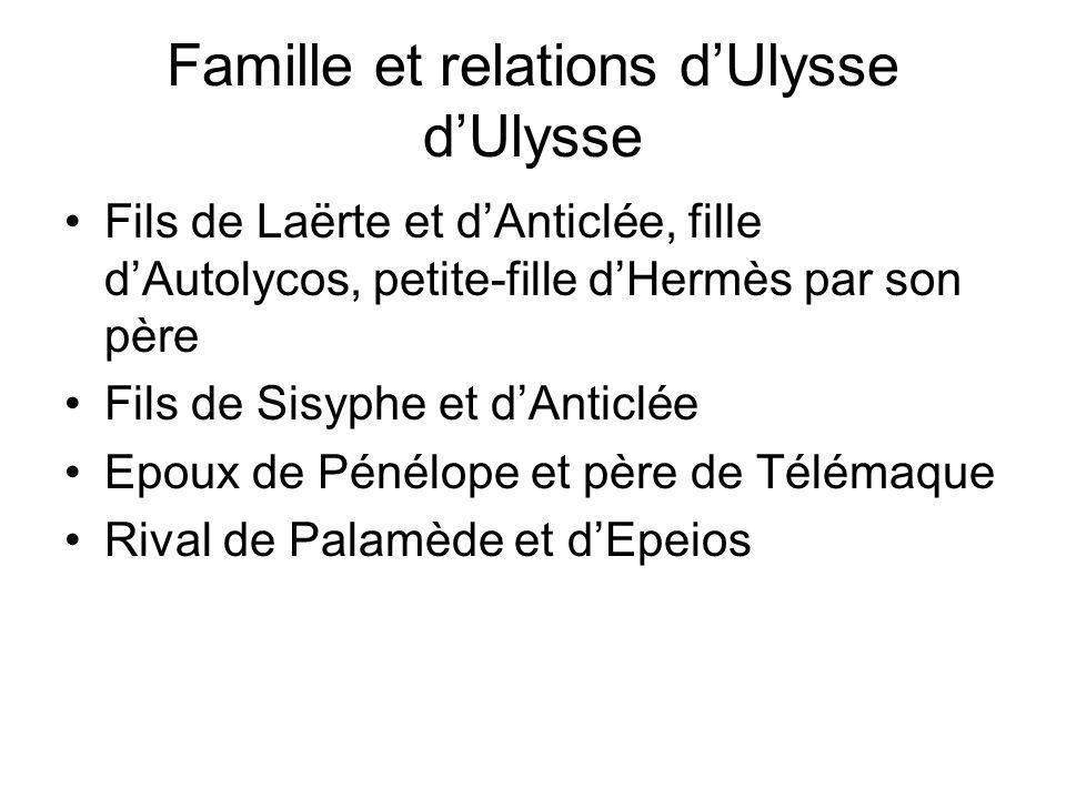 Famille et relations d'Ulysse d'Ulysse