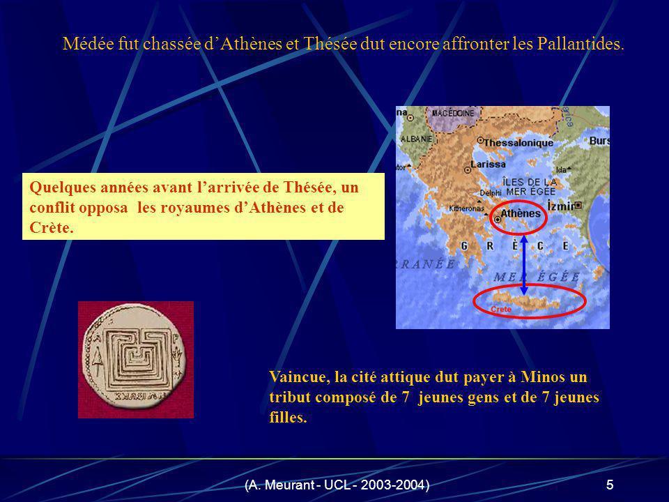 Médée fut chassée d'Athènes et Thésée dut encore affronter les Pallantides.