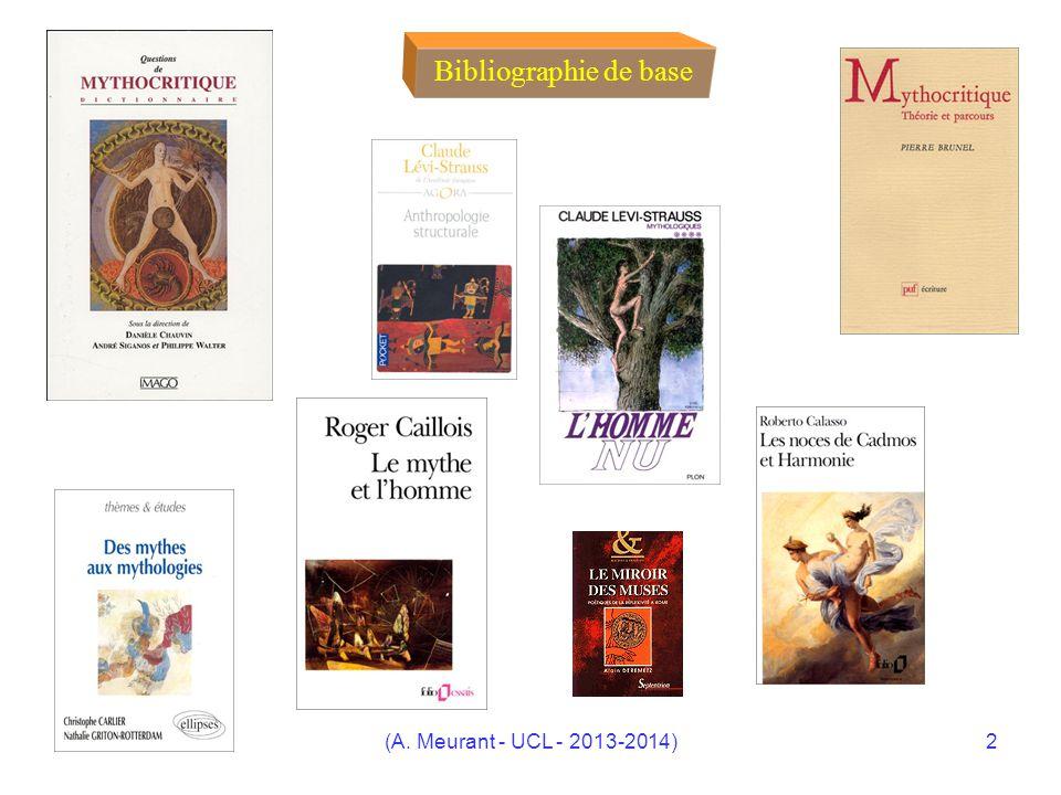 Bibliographie de base (A. Meurant - UCL - 2013-2014)