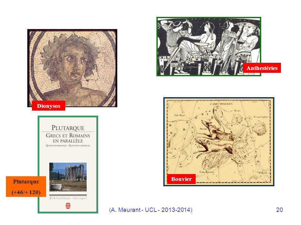 Anthestéries Dionysos Bouvier Plutarque (+46/+ 120) (A. Meurant - UCL - 2013-2014)