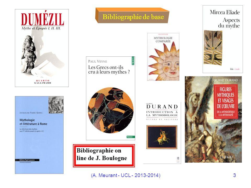 Bibliographie de base Bibliographie on line de J. Boulogne