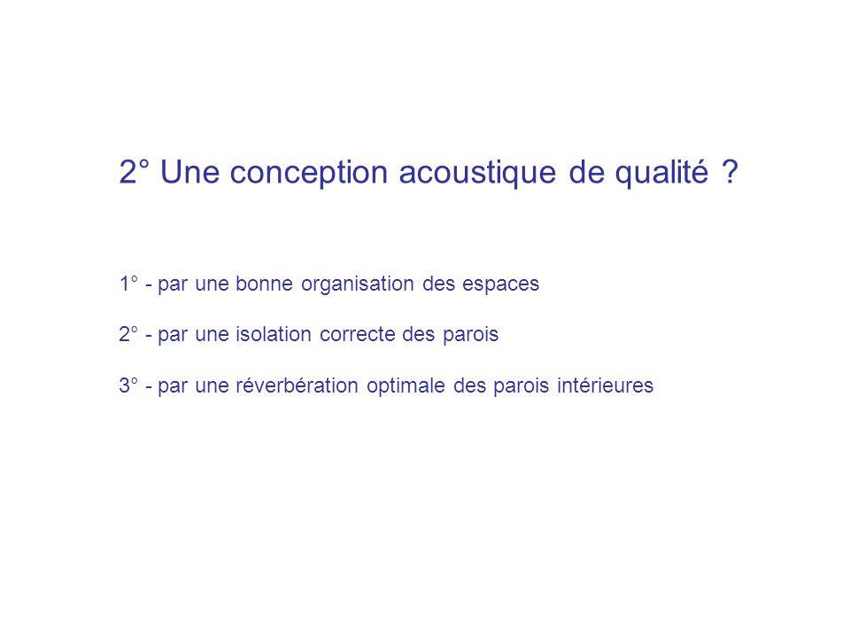 2° Une conception acoustique de qualité