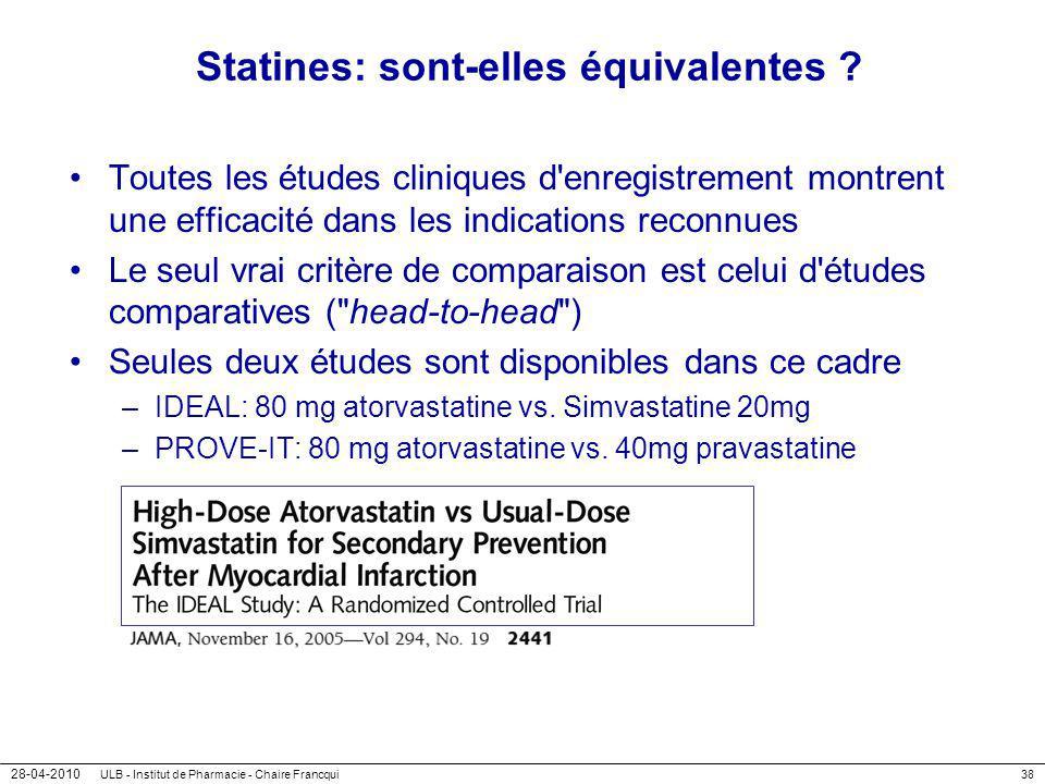 Statines: sont-elles équivalentes