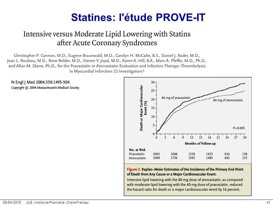 Statines: l étude PROVE-IT
