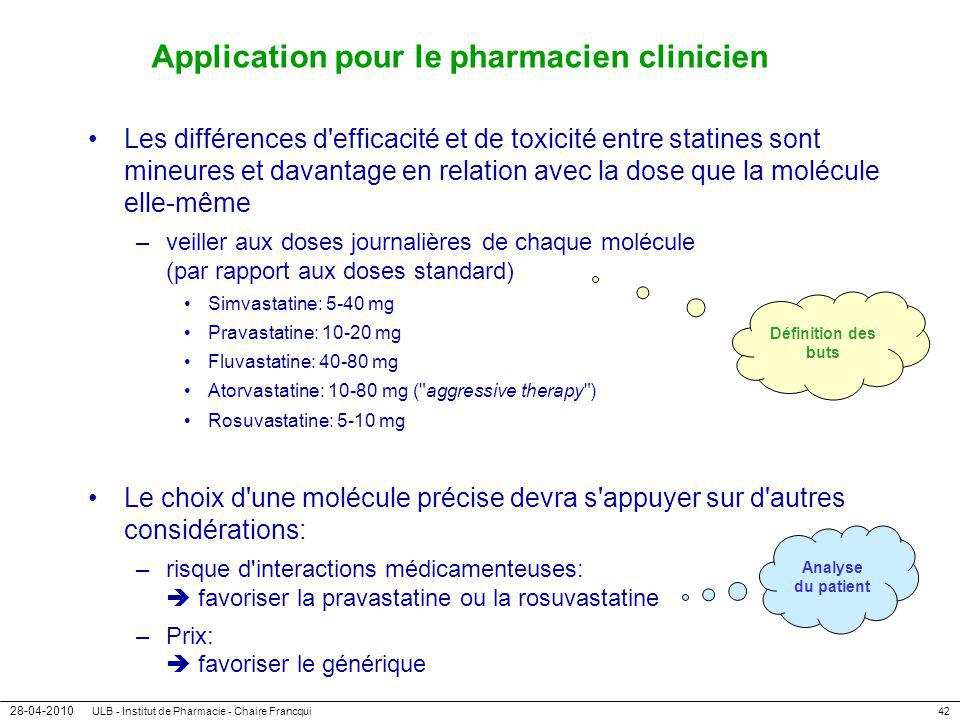 Application pour le pharmacien clinicien