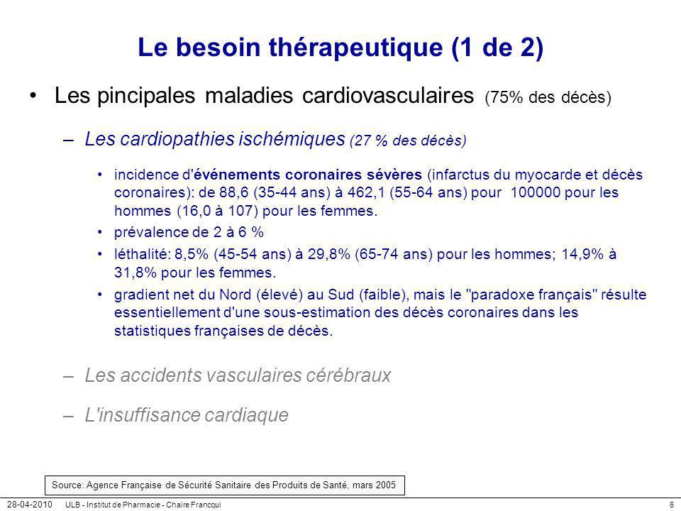 Le besoin thérapeutique (1 de 2)