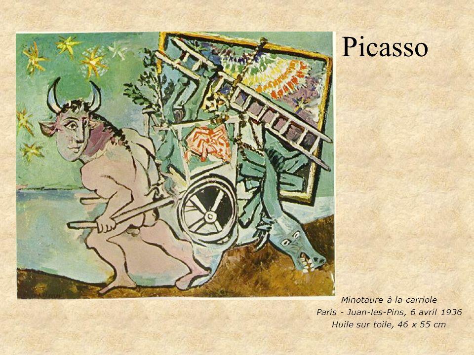 Picasso Minotaure à la carriole Paris - Juan-les-Pins, 6 avril 1936