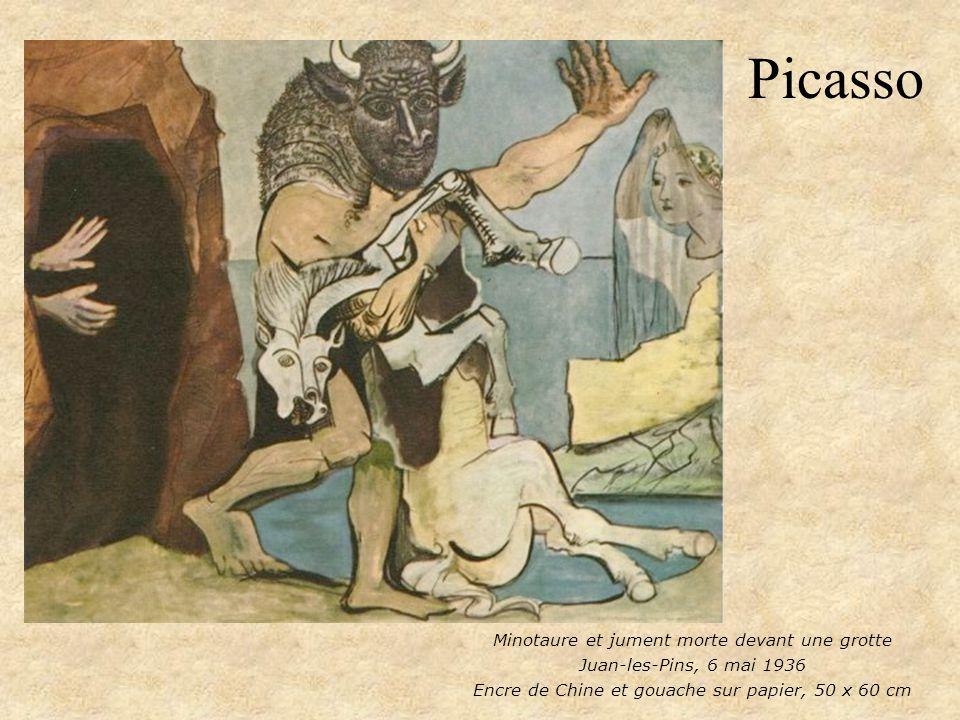 Picasso Minotaure et jument morte devant une grotte