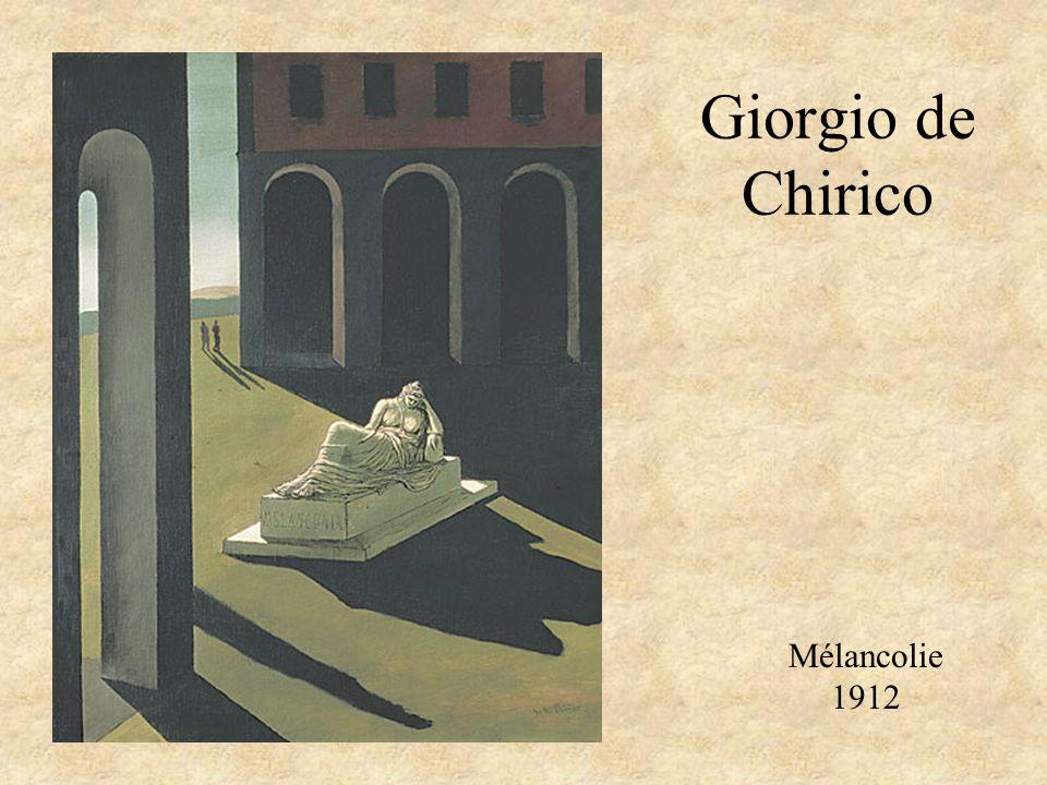 Giorgio de Chirico Mélancolie 1912