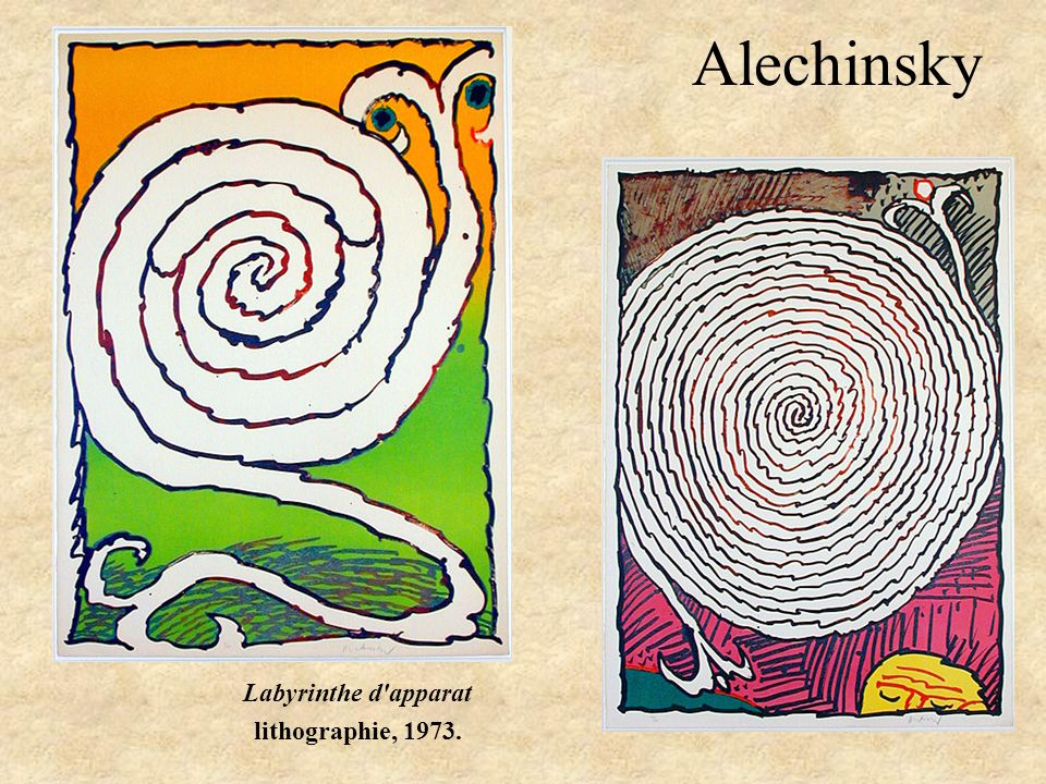 Labyrinthe d apparat lithographie, 1973.