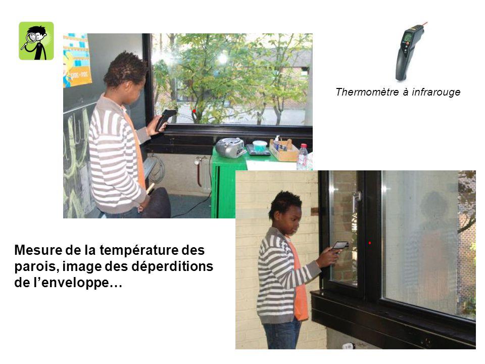 Mesure de la température des parois, image des déperditions
